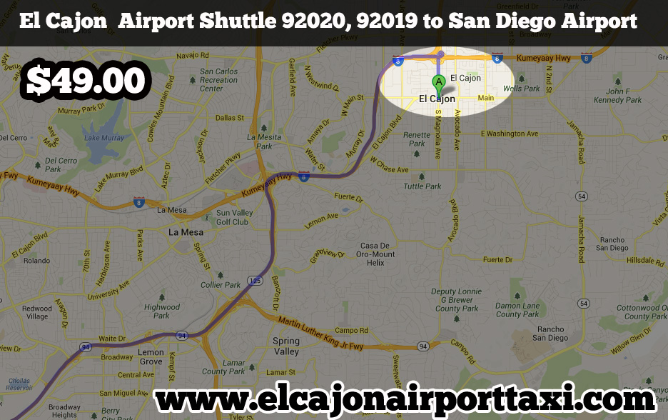 el cajon airport taxi shuttle