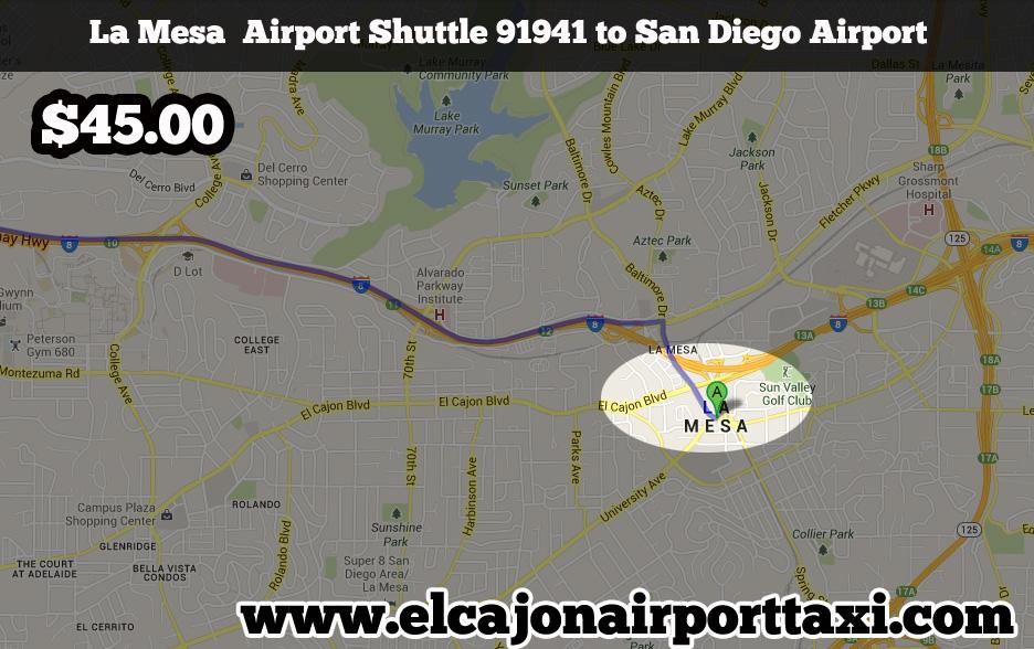 la mesa airport taxi shuttle