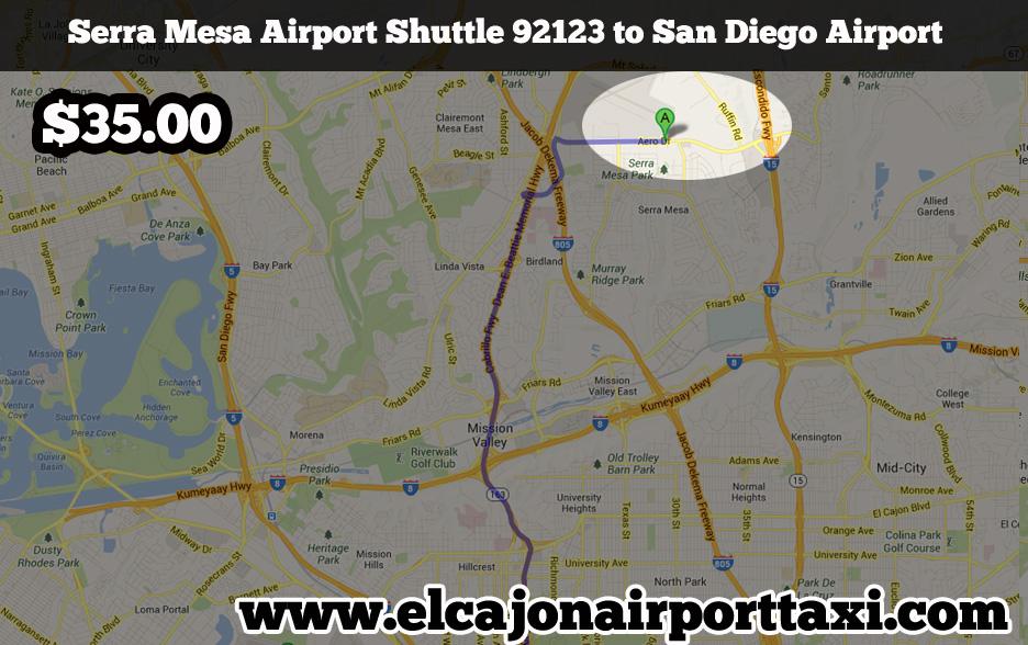 serra mesa airport shuttle taxi